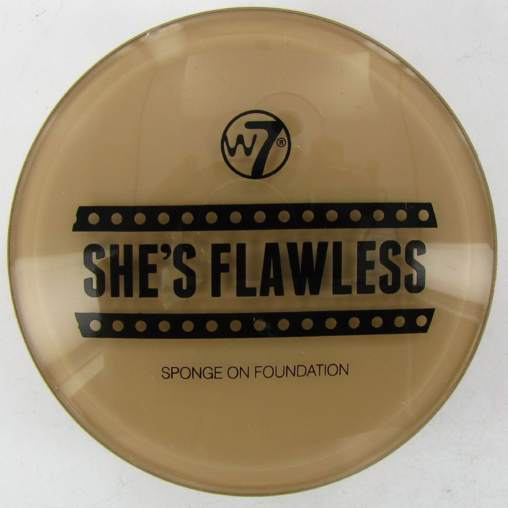 W7 She's Flawless Sponge Foundation Compact